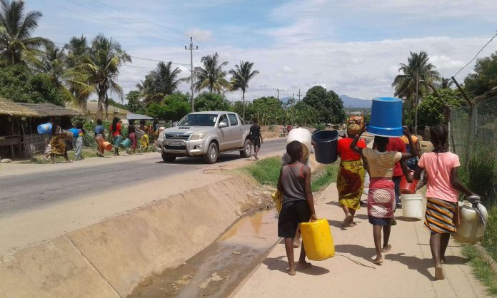 crise de agua em Nampula