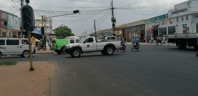 semáforos estão avariados na cidade de Nampula